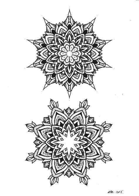 thai flower tattoo designs dot work mandala flowers tattoos designs