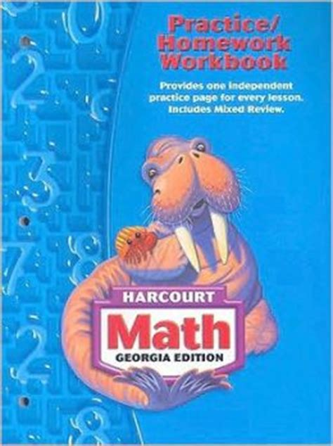 libro student workbook for mathematics harcourt publishers math georgia practice homework workbook student edition grade 3 by