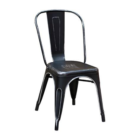 Tolix Bistro Chair Black Weathered Finish Tolix Chair Commercial Grade Metalrestaurantchairs
