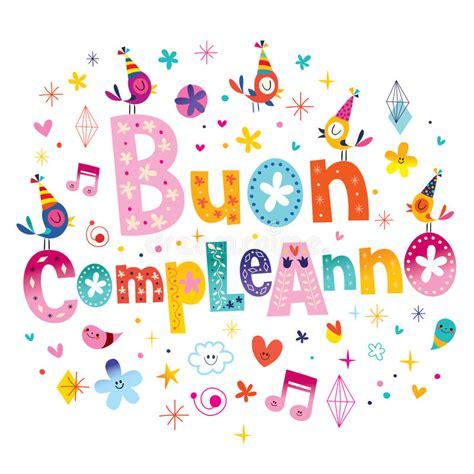 clipart buon compleanno buon compleanno happy birthday in italian stock vector