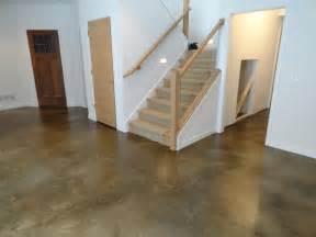 Basement Cement Floor Ideas Stained Concrete Basement Floor Traditional Basement Indianapolis By Dancer Concrete Design