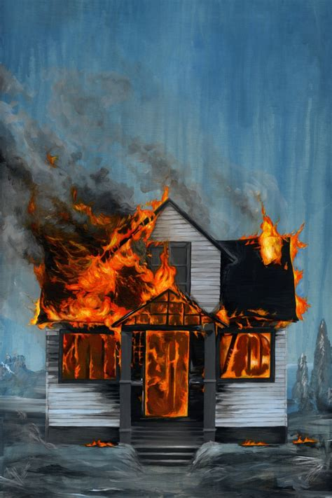 famous house painters house on fire drawdeck