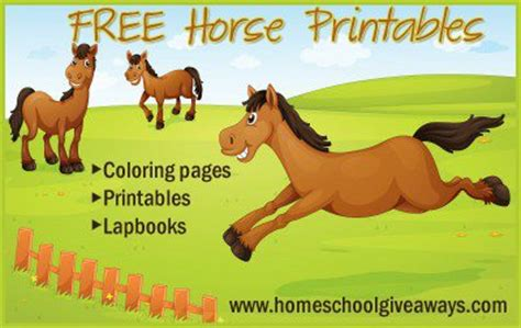 Horse Giveaways - horse themed printables freebies and deals