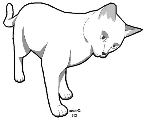 cat template cat template 1 by icepathjc on deviantart