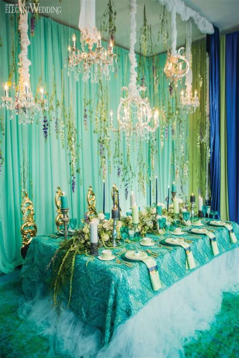 aqua green wedding ideas 37 unique mermaid inspired wedding ideas weddingomania