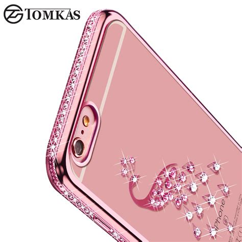 For Iphone 6 6s Plus Soft Luxury Bling Glitter Shine luxury bling rhinestone silicone for iphone 6 6s