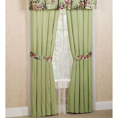 a touch of class curtains blooming prairie tailored curtain pair multi cool 84 x 84