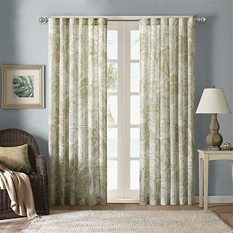 Harbor House Palm Sheer Window Curtain Panels   www