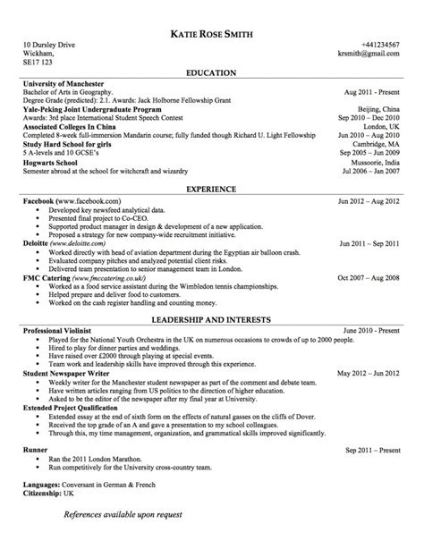 How To Make A Resume With No Job Experience by Chronological Cv For The Uk Joblers