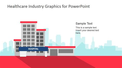 Healthcare Industry Graphics For Powerpoint Slidemodel Hospital Presentation Templates
