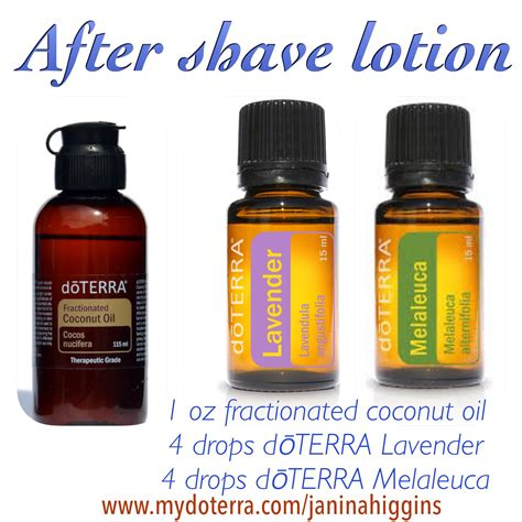 Oils For A Smooth Skin by Doterra Essential After Shave Lotion Add A Drop Of