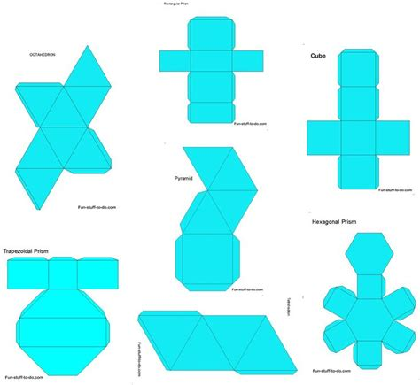 Paper Shapes - 46 best 3d geometric box templates images on