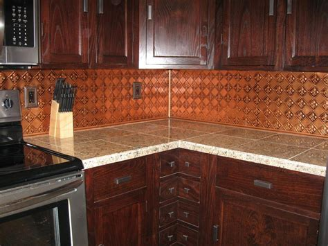 faux copper backsplash savary homes