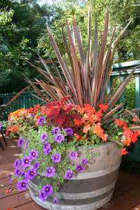 fall color container planting idea fall containers