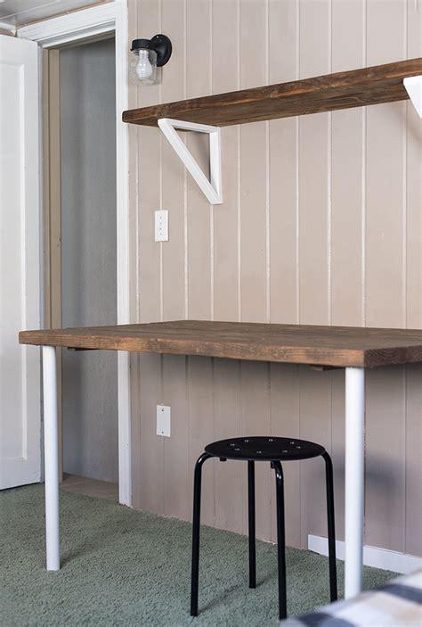 simple diy wall desk shelf brackets for 23