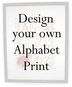 design your own alphabet wall print