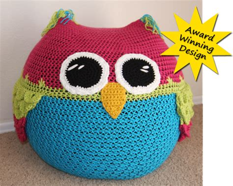 crochet pattern for bean bag owl bean bag chair crochet pattern