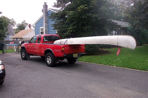 boat in pickup bed how do you transport a canoe in a pickup truck ford