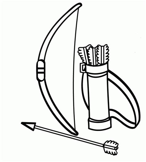 coloring page of bow and arrow rama with a bow and arrow colouring pages page 3 az