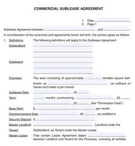commercial lease templates 6 free commercial lease agreement templates excel pdf