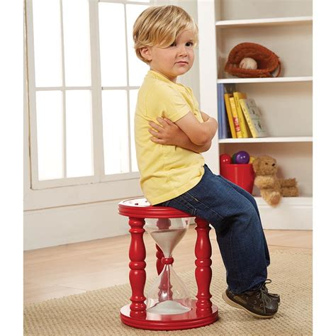 time out bench toddler kids time out hourglass stool or chair 14 quot tall with sand