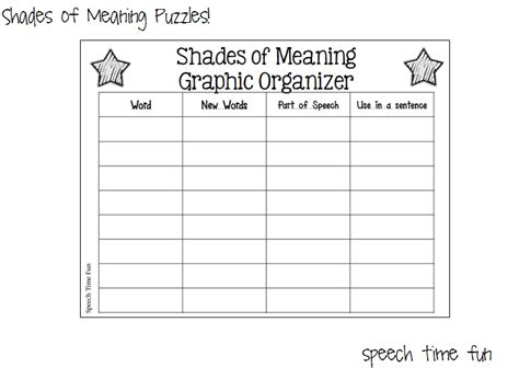 Shades Of Meaning Worksheets by Reading Comprehension Stories Shades Of Meaning Puzzles