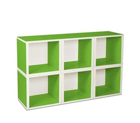 Green The Shelf by 6 Modular Cubes Shelf Green Way Basics Useful Storage