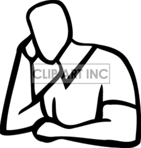 Thinking Outline by A Black Outline Of Someone Clipart Panda Free Clipart Images