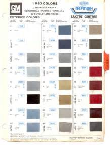 gm color codes gm color chips 1983 gm models select model paint list to