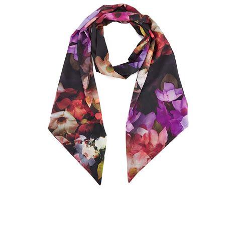 ted baker s casine cascading floral scarf black