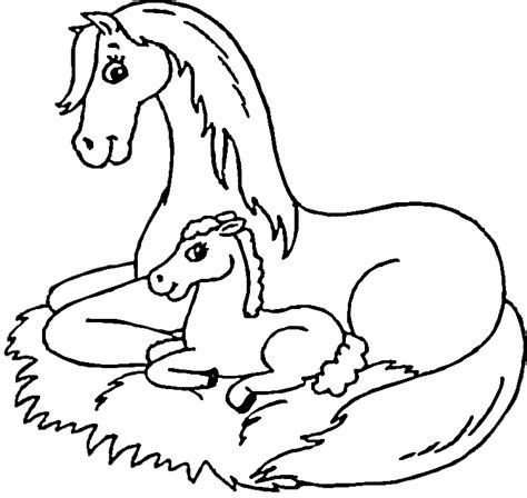 coloring pages of horses and foals mare and foal coloring page purple