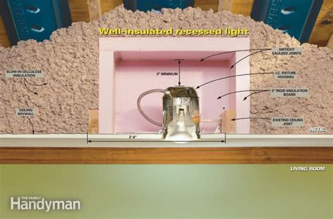 insulation box for recessed lighting how to update recessed lights the family handyman