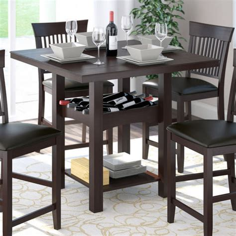 Corliving Bistro Counter Height Dining Table With Wine Dining Table With Wine Storage
