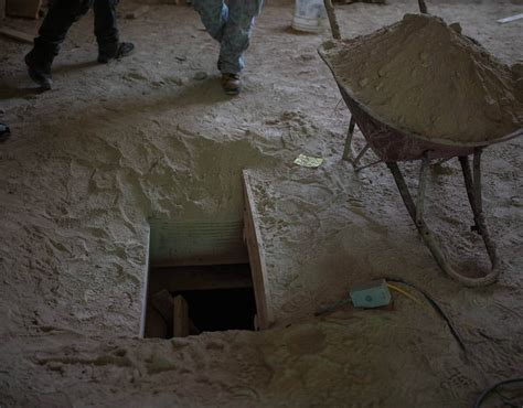 el chapo guzman house entrance of the tunnel inside the house where used by