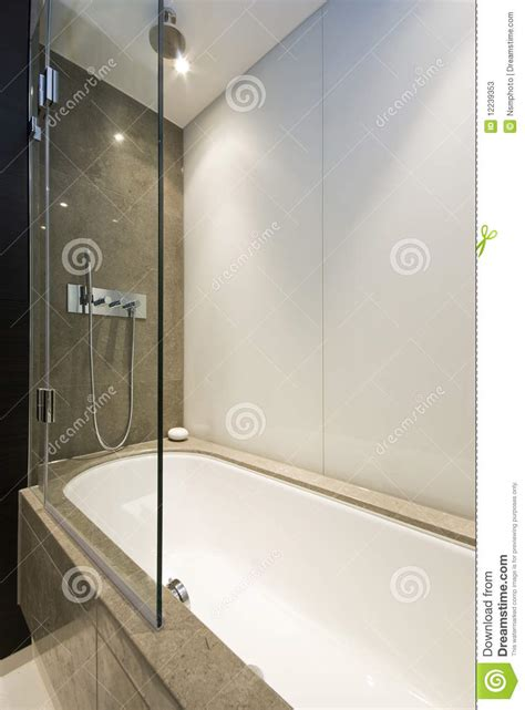 bath shower attachment marble bath tub with slim line shower attachment stock photos image 12239353