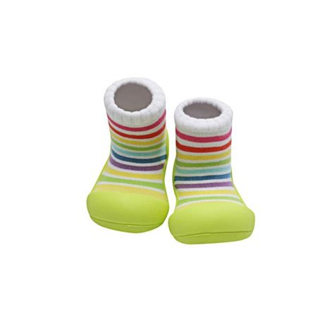 baby shoes attipas rainbow green