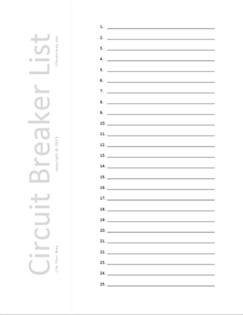 circuit directory card template household your way
