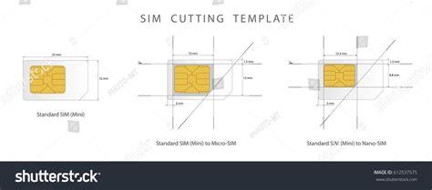 sim card cutting template standard micro stock vector  shutterstock
