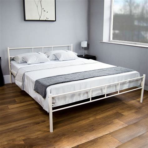 silver metal bedroom furniture dorset king size bed metal steel frame 5ft bedroom
