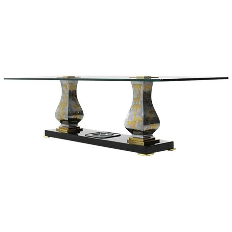 palm tree coffee table extraordinary gold plated smoker table console