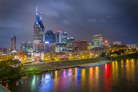 nashville tennessee nashville tennessee downtown nashville at night city