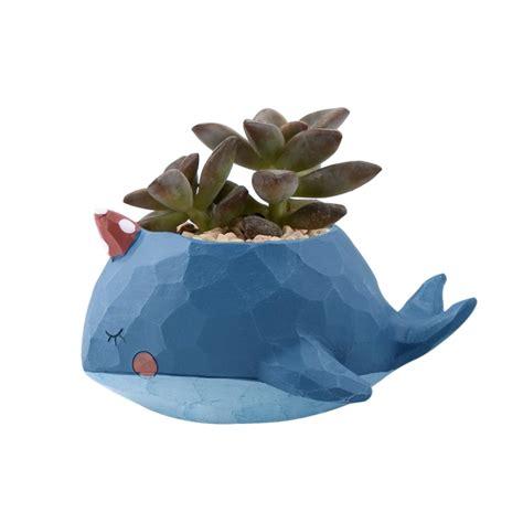 Animal Flower Pot Penguin lovely home garden office resin animal whale shaped plant flower pot decoration animal