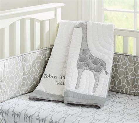 Giraffe Baby Bedding Crib Sets Gray Giraffe Tobin Nursery Bedding Pottery Barn Quilt Fitted Sheet Bumper And Crib