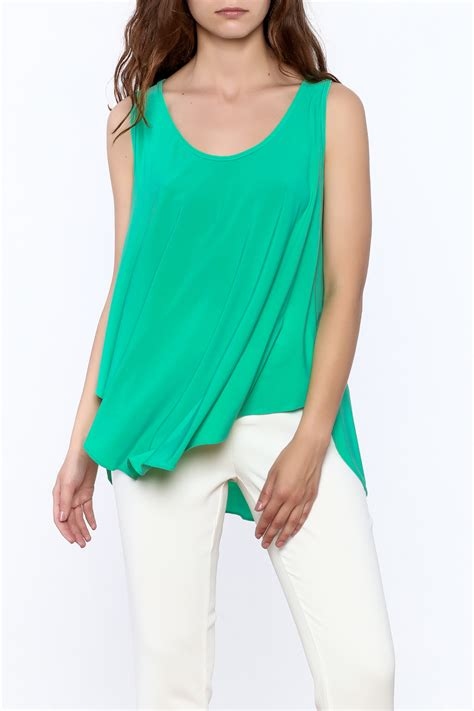Sharhorn Green Blouse max green sleeveless swing top from wyoming by fashion crossroads inc shoptiques
