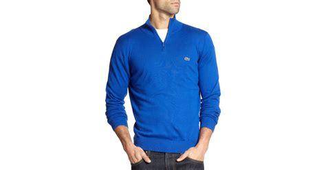 Sweater Inter Blue Half Zipper 1516 lacoste half zip pullover sweater in blue for lyst
