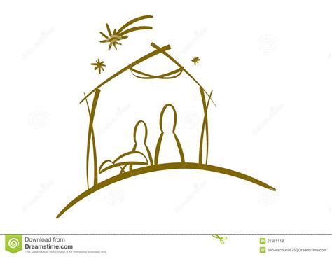 clipart presepe abstract nativity symbol stock vector illustration of