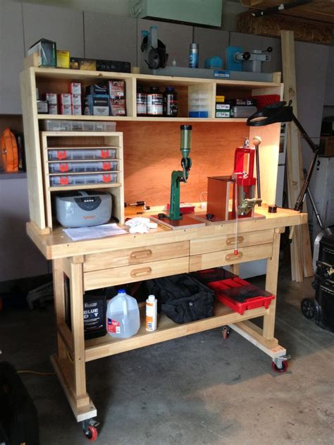 gun reloading bench a good looking reloading bench future house pinterest left over woodworking