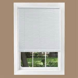 mini blinds home depot intercrown white 1 in cordless light blocking vinyl mini