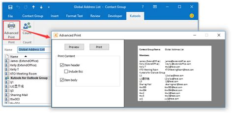 how to print address book addresses it still works how to print global address list address book in outlook