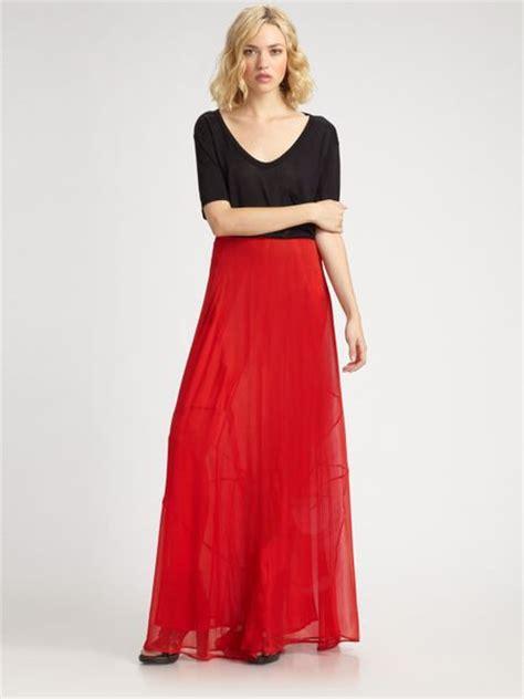 rag bone feather maxi skirt in black lyst